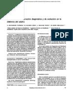 Parámetros de valoración diagnóstica y de evolución en la disfemia del adulto