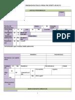 Anamnesis Fonoaudiológica Para Paciente Adulto