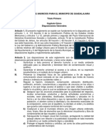 Reglamento de Anuncios Para Guadalajara