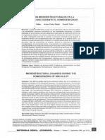 Cambios Microestructurales en La Aleación 6063 Durante El Homogeneizado