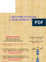 7. Sections & Developments of Solids