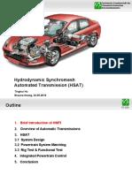 Hydrodynamic Synchromesh Automated Transmission (HSAT)