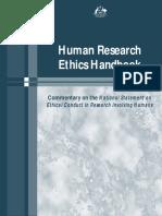 Human Research Ethics Handbook