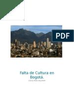 Ensayo-cultura en Bogotá.