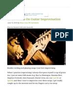 10 Essentials on Guitar Improvisation - GUITARHABITS