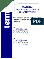 Manual Tehnic Centrala Termet,MiniTerm-MaxiTerm-Elegance-TURBO RO 2012
