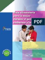 p345 g Dgps Uan Guia Alimentaria Para La Mujer Durante El Periodo de Embarazo y Lactancia