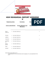HSM Rehearsal Report Template
