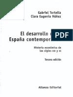 El Desarrollo de La España Contemporánea. Historia Económica de Los Siglos XIX y XX (Índice)