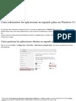 Cómo Administrar Las Aplicaciones en Segundo Plano en Windows 10