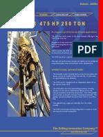 20500e HMIS 475 HP 250 Ton