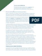 Informacion de La Tabla Periodica