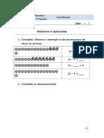 Ficha de Matemática - 1º ano