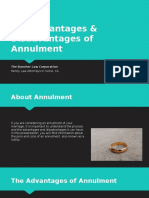 The Advantages & Disadvantages of Annulment