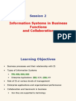 Lecture 2 - Is in Business Functions & Collaboration