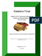 Relatório Final de Formação