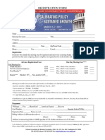2017 Policy Conference Advance Registration Form