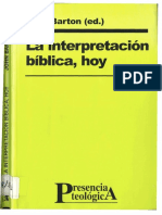Barton, John - La interpretación bíblica hoy.pdf