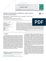 Synthesis of Nanocrystalline Molybdenum Carbide Materials and Their Characterization