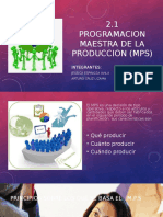 Programacion Maestra de Produccion Mps Expo Bety