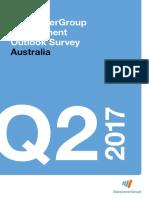 Australian ManpowerGroup Employment Outlook Survey Q2 2017