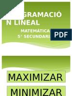 Introducción a La Programación Lineal1