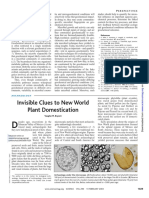 Invisible Clues to New World Plant Domestication1029