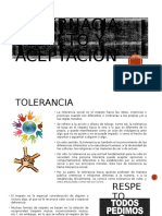 Tolernacia, Respeto y Aceptación