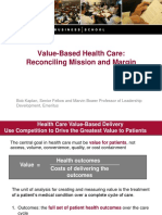 Value Based Healthcare_Dr Robert Kaplan