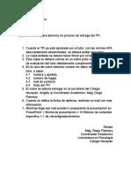 Datos de Interés Para Alumnos en Proceso de Entrega Del TFI