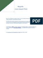 Biografia de Jose Joaquin Prieto