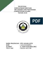 Proposal Bantuan Dana Sarpras 2018