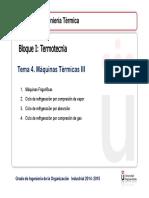 Tema 4 Maquinas III Ciclos Frigorificos