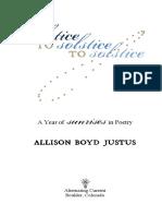 Solstice to Solstice to Solstice by Allison Boyd Justus (Book Preview)