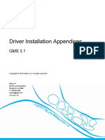 GMS - Driver Installation Appendices