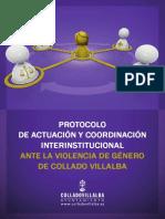 Protocolos de Actuación y Coordinación Interinstitucional Ante La Violencia