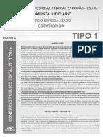 Prova-consulplan-trf - 2ª Região-Analista Judiciário - Estatística