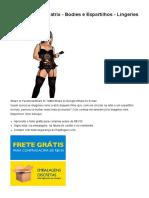 Espartilho Dominatrix - Bodies e Espartilhos - Lingeries _ SexDesejo