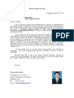 Surat Lamaran CV Inggris