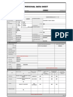 Personal Data Sheet - CSC Form