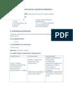 Planificación de La Sesión de Aprendizajee9