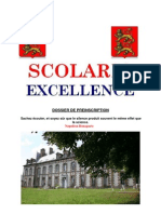 Dossier de Pre Inscription Scolaria Excellence
