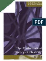 Teoria Matematica de Plasticidad
