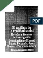 Garcia Ferrando - El Análisis de La Realidad Social