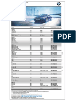 BMW Price List 01022017