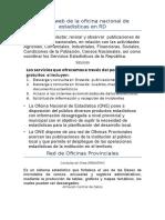 Pagina web de la oficina nacional de estadísticas en RD
