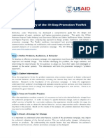 Brief Summary of the 10-Step Promotional Toolkit
