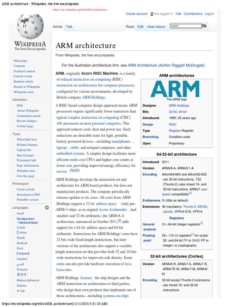 arm architecture wikipedia read arm architecture instruction set