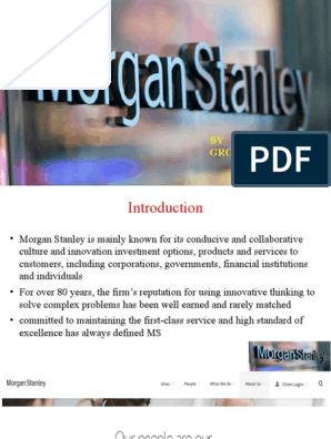 rob Parson at Morgan Stanley (HRM) Final | Applied Psychology
