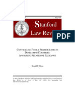 Controlling Family Shareholders in Developing Countries; Anchoring Relational Exchange - Ronal J. Gilson